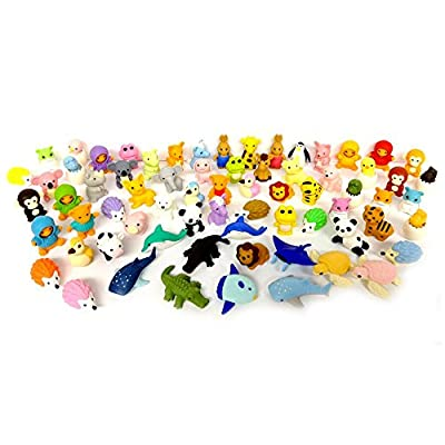 Iwako Erasers Animal Overstock (Pack of 20): Office Products