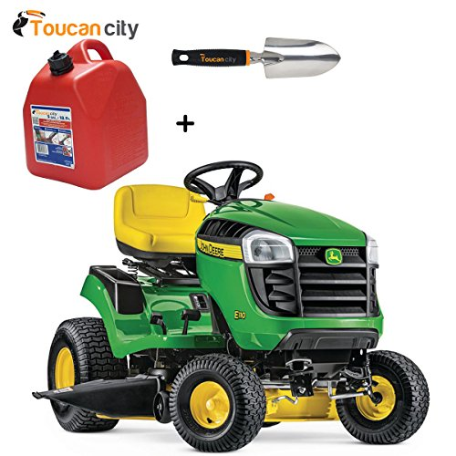 "Toucan City Gas Can with 3"" Softouch Hand Trowel and John Deere E110 42"" 19 HP Gas Hydrostatic Lawn Tractor-California Compliant BG21074 -  Toucan City + John Deere, Toucan City + BG21074"
