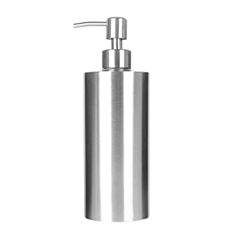 Dispensador de Jabón, ARKTEK Premium 304 Dispensador de Jabón Líquido de Acero Inoxidable para Cocinas