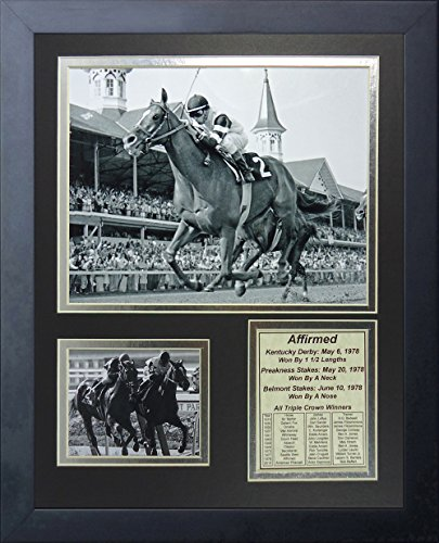 Horse Racing Photo (Legends Never Die Affirmed 1978 Triple Crown Winner Collage Photo Frame, 11