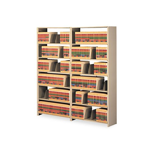 Tennsco - Snap-Together Open Shelving Steel 7-Shelf Closed Add-On Unit, 48 x 12 x 88, Sand - Sold As 1 Each -