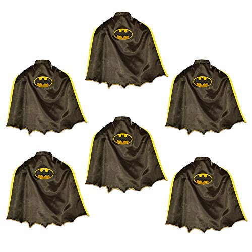 Batgirl Party Favors Cape Pack - 6 Deluxe Batgirl Capes for Kids Girls, Superhero Dress Up (Batgirl Party Supplies)]()