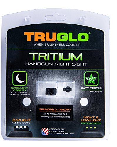 "TRUGLO Tritium Handgun Glow-in-The-Dark Night Sights for Springfield Pistols, Springfield XD, XDM (excluding 5.25"" Comp Series) and XDS"