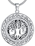 "�Memorial Gift� Ado Glo ""Always in My Heart"" Urn Locket Pendant Necklace - ""Tree of Life"" Cremation Jewelry for Ashes - Keepsake for Mom Dad Sister Grandma Aunt Wife Daughter"