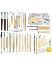 44Pcs DIY Clay Art Tool Voor Keramiek Set Ambachten Klei Tool Keramische En Keramische Kit Houten Handvat Boetseren Gereedschap