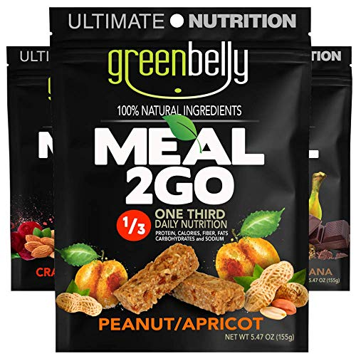 Greenbelly Backpacking Meals – Backpacking Food, Appalachian Trail Food Bars, Ultralight, Non-Cook, High-Calorie, Gluten-Free, Ready-to-Eat, All Natural Meal Bars (Variety – 3 Meals)
