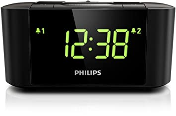 Philips AJ3500/05 - Radio (Reloj, FM,MW, LED, Verde, Negro, Giratorio): Amazon.es: Electrónica
