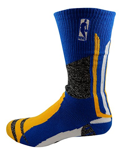 NBA Logoman Royal Yellow White Crew Socks (Medium & Large Available) (Large 10-13) by Score Originals
