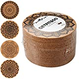 Getfitsoo Cork Coasters (set of 12), Round Cup Mat For Drinks Durable Absorb Reusable Mandala Designs Coaster