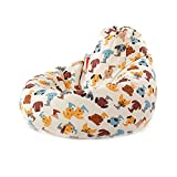 Bean Bag Chair Cover Kids' Stuffed Animal Storage Bags, Colorful Microfiber Cotton Toy Organizer for Kids Bedroom, Storage Solution for Plush Toys, Towels & Clothe, 20x27 Inches (Cartoon dog)