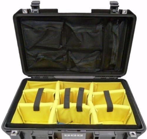 Lid Foam 1535 Lid Organizer to fit Pelican 1535. CVPKG Presents Yellow Padded Divider Set