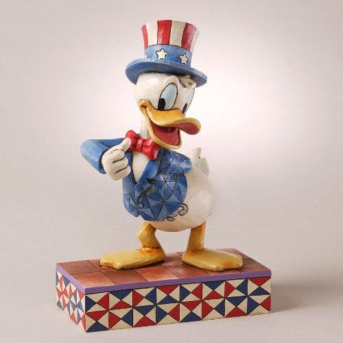 (Disney Traditions by Jim Shore Patriotic Donald Duck Figurine, 7-3/4-Inch)