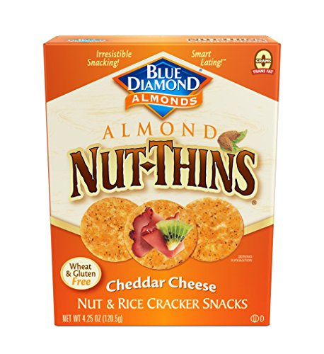 Almond Thins (Blue Diamond Almonds Nut Thins Cracker Crisps, Cheddar Cheese, 4.25 Ounce)