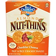 Blue Diamond Almonds Nut Thins Cracker Crisps, Cheddar Cheese, 4.25 Ounce