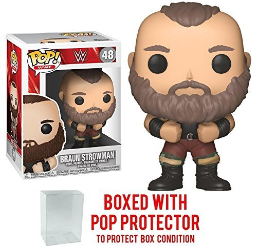 Funko Pop! WWE Braun Strowman #48 Vinyl Figure (Bundled with Pop BOX PROTECTOR CASE) by Funko