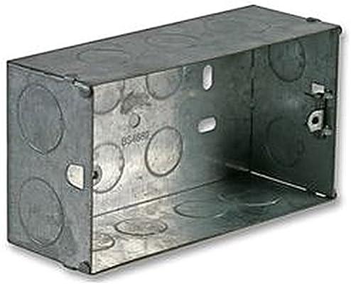 Caja metálica 2 GANG 47 mm cajas traseras eléctrico/de cajas ...