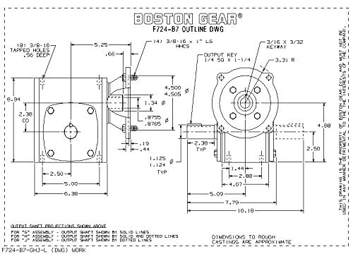0.438 Bore 5300 pounds Ultimate Static Load Female Type Boston Gear HFL7G Self-Aligning Bearings Left Hand with Lubricator