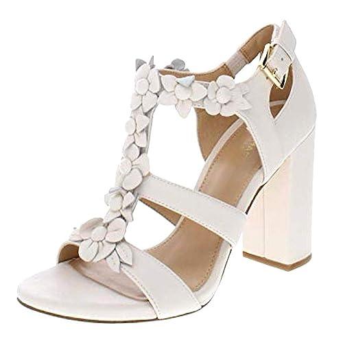 707c7923496 Michael Michael Kors Womens Tricia Block Heel Leather Open Toe ...