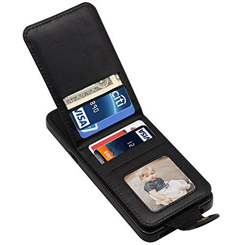 Galaxy S9 Plus Case, Galaxy S9 Plus Wallet Case, LakiBeibi Slim Fit PU Leather Magnetic Detachable Galaxy S9 Plus Card Holder Case with Kickstand Protective Cover for Samsung Galaxy S9+ (2018) - Black