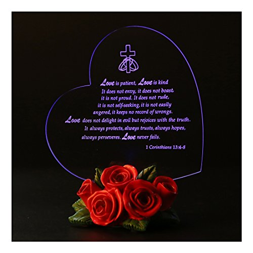 - Giftgarden The True Meaning of LOVE LED Light Heart Decor Couple Wedding, Friendship Gifts