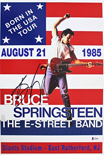 Bruce Springsteen Signed 12x18 Born In The USA Tour Reprint Photo BAS #A70520 - Beckett Authentication