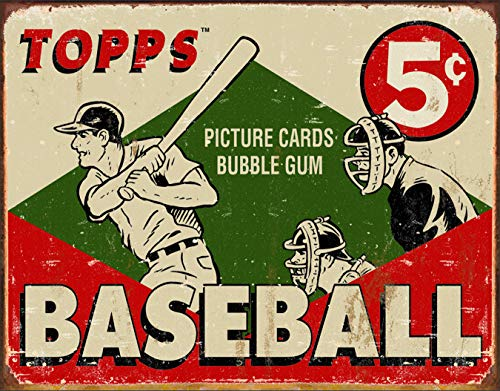 Desperate Enterprises Topps - 1955 Baseball Box Tin Sign, 16