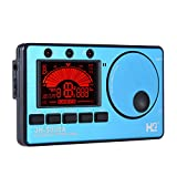 ammoon 3 in 1 Electronic Digital Tuner Metronome Tone Generator Built-in Mic Tuning LCD Display for Chromatic Guitar Bass Ukulele Violin