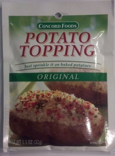 - Concord Foods Original Potato Topping (Pack of 4) 1.1 oz Packets