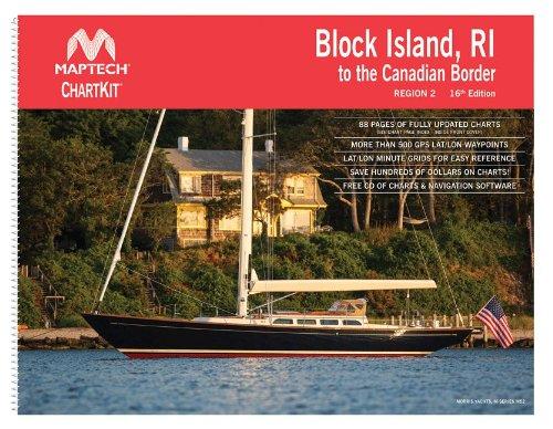 Maptech ChartKit® Book w/ Companion CD - Block Island RI to Canadian (Maptech Paper Chartkit Book)