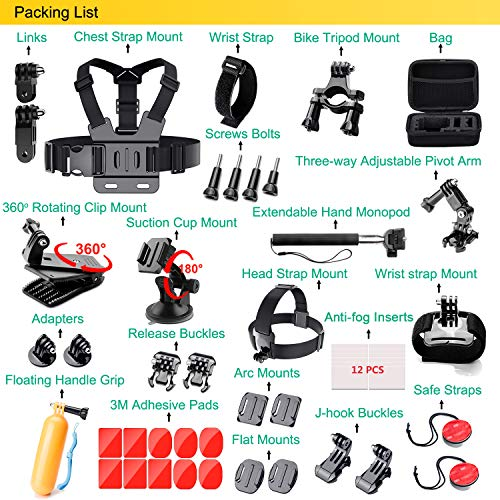 GoPro Accessories Kit For GoPro Hero 7 6 5 Black 4 3 Session Action Camera Accessories for Xiaomi Yi