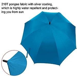 Rainlax Windproof Golf Umbrella 62 inch Oversize Canopy Automatic Open Large Outdoor Golf umbrella Rain&Wind Repellent Sun Protection Stick Umbrellas (Sky Blue)