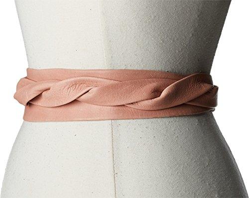[ADA Collection Women's Midi Wrap Belt Peach Belt] (Belt Peach)