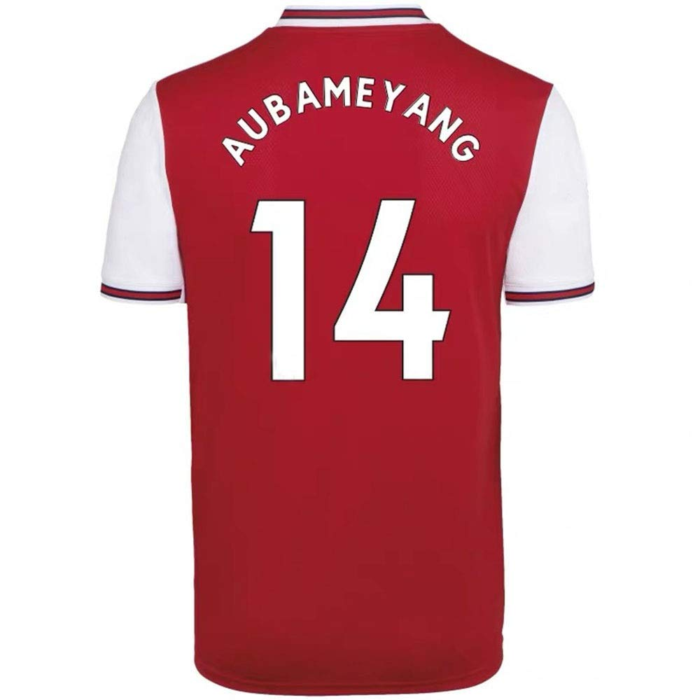 Fans Sport Soccer T Shirt Maglie a Manica Corta ANHPI-Jersey Maglia da Calcio da Uomo Pierre-Emerick Aubameyang # 14