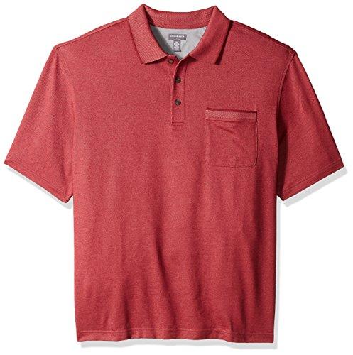 Cabernet Cotton Polo Shirt (Van Heusen Men's Tall Flex Short Sleeve Polo, Red Cabernet, 2X-Large Big)