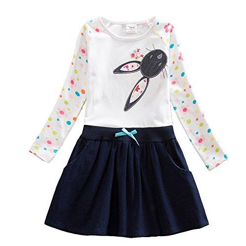 VIKITA Embroidery Sleeve Flower Dresses product image
