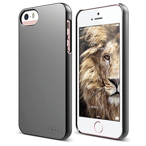 iPhone SE case, elago [Slim Fit 2][Semigloss Metallic Dark Gray] - [Light][Minimalistic][True Fit] - for iPhone SE/5/5S