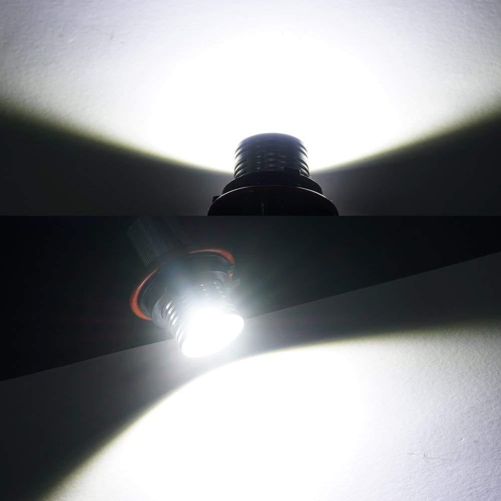 B-M-W Angel Eyes E39 E60 LCI Halo Ringlicht E87 LED Halo Ring Light Marker Ringe 10W CREE Licht Scheinwerfer Headlight Canbus Error Free E53 E61 E63 E64 E65 E66 E83 5 6 7 Serie X3 X5 Xenon Wei/ß 6000K