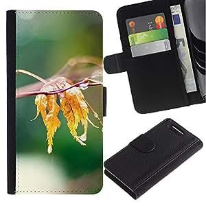Stuss Case / Funda Carcasa PU de Cuero - Naturaleza de la hoja Agua - Sony Xperia Z3 Compact