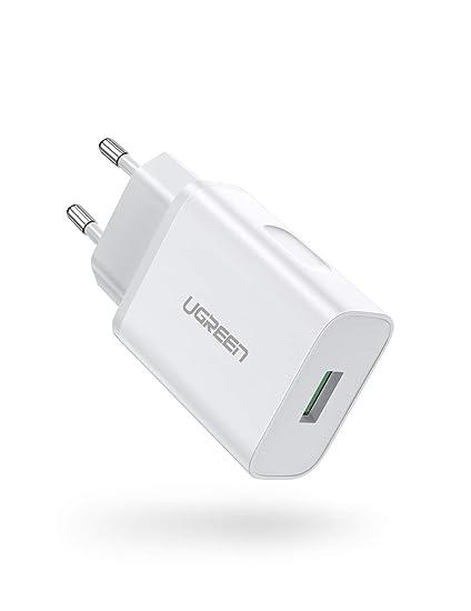 UGREEN USB Cargador 18W Cargador Quick Charge 3.0 Cargador Móvil ...