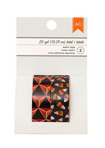 American Crafts Halloween Orange Diamond & Candy Corn Washi Tape, 20 yd -