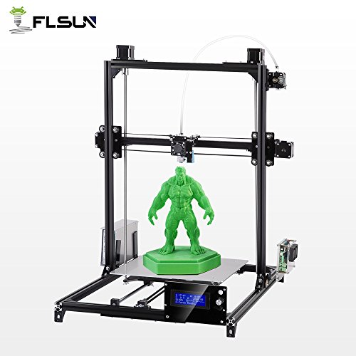 FLSUN 3D Printers Plus Size Prusa i3 DIY Kit 300x300x420mm Auto Leveling Large Printing Size Heated Bed Full Gifts PLA,ABS Filament 1.75mm