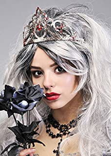 Zombie Prom Queen Silver Bloody Tiara