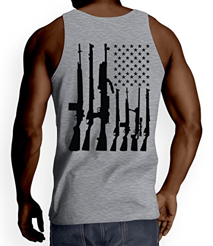 Mens American Flag Machine T shirt