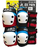 187 Killer Pads Junior Six Pack Combo Set - Red / White / Blue