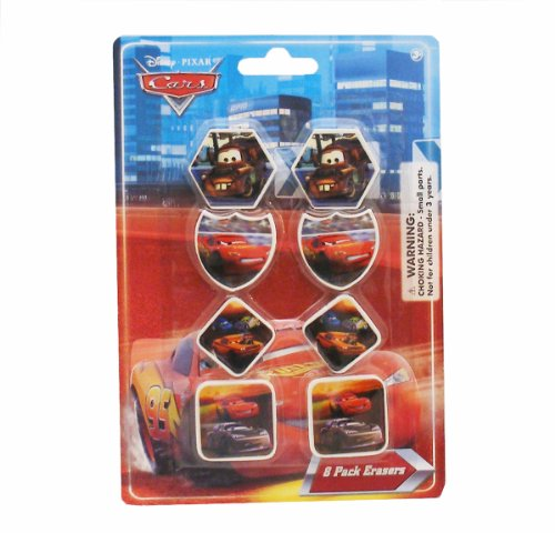 Cars Disney Pixar Erasers 8-pack