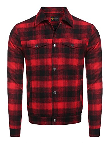 Quilted Plaid Flannel Work Shirt - 8