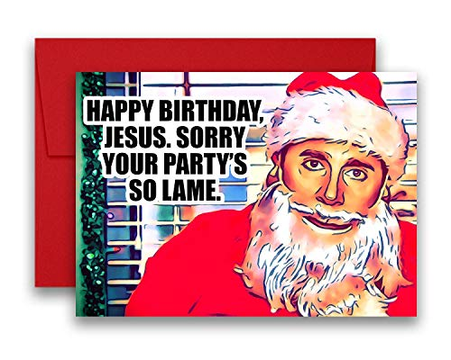 The Office Michael Scott Santa Christmas Holiday Card Flat Postcard 5x7 inches ()