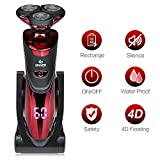 DAMONING Electric Shaver for Men, Wet and Dry IPX7 Waterproof Electric Cordless Razor