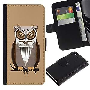 All Phone Most Case / Oferta Especial Cáscara Funda de cuero Monedero Cubierta de proteccion Caso / Wallet Case for Apple Iphone 4 / 4S // The Professor Night Owl