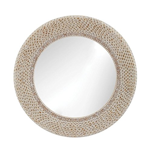 Lazy Susan 163-007 Ribbed Ring Shell Mirror